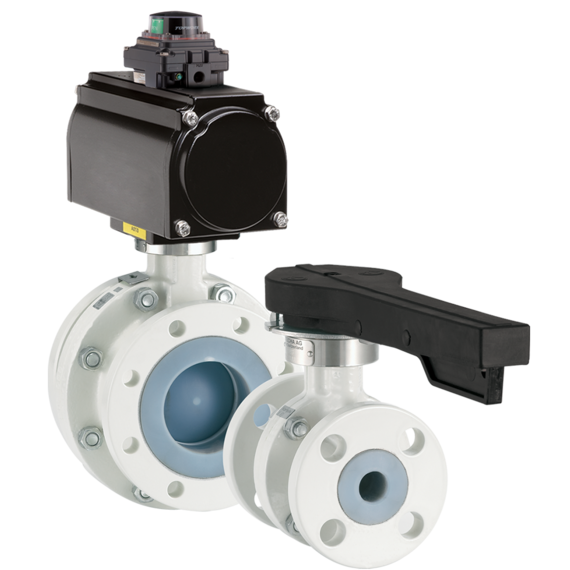 Model NTB/NTC PFA Lined Ball Valves