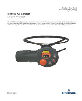 Bettis XTE3000 Product Data Sheet