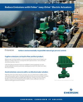 Fisher EasyDrive Electric Actuators Brochure